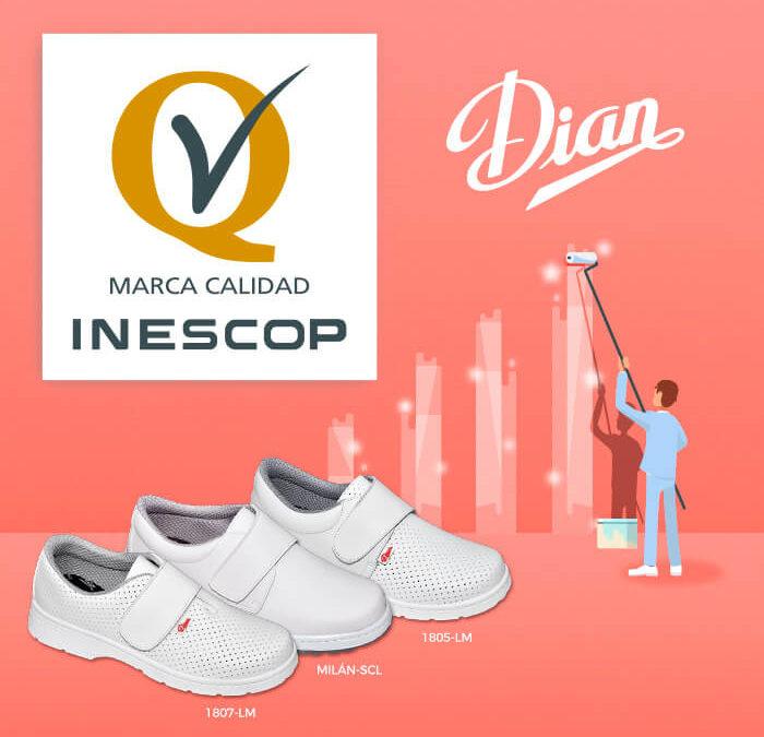 DIAN, primera empresa en obtener la MARCA de CALIDAD INESCOP para calzado de uso profesional